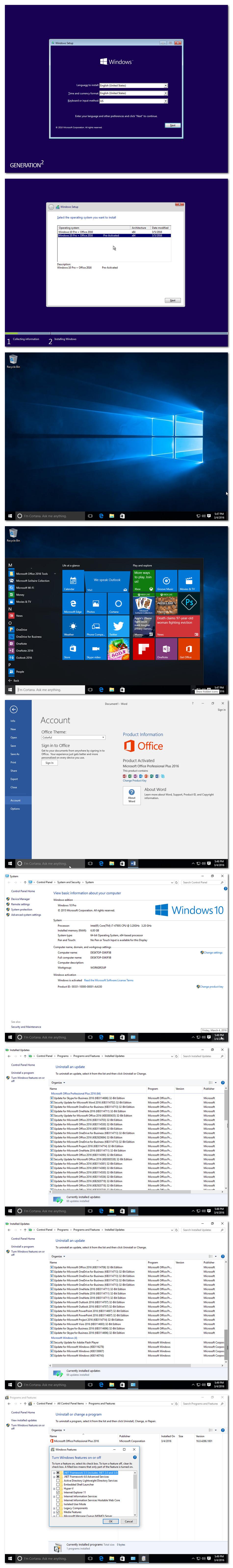 ������ �������� Windows.10.Pro ������� Office